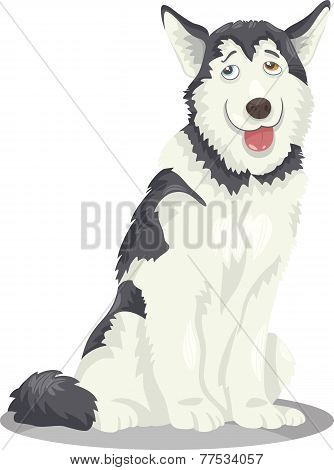 Husky Or Malamute Dog Cartoon