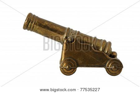 Bronze Miniature Of Old Cannon