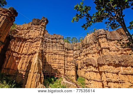 Phachor ,amazing In Nature Erosion By Wind And Rain, Mae Wang National Park,chiang Mai,thailand.