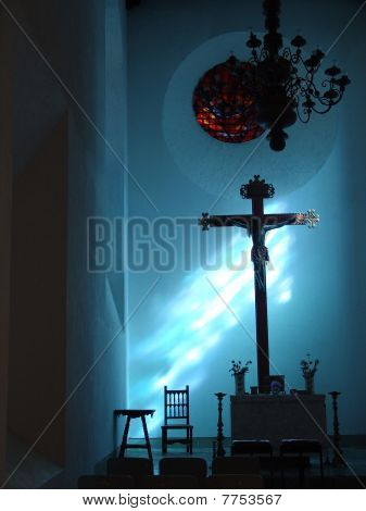 Christ at night