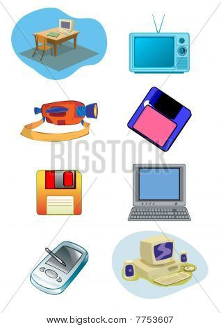 Electrical Equipment Illustration In Vector