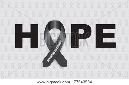melanoma hope ribbon
