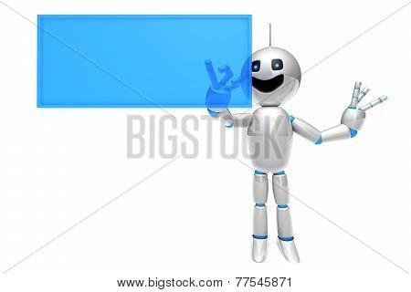 Cartoon Robot Using A Virtual Touchscreen