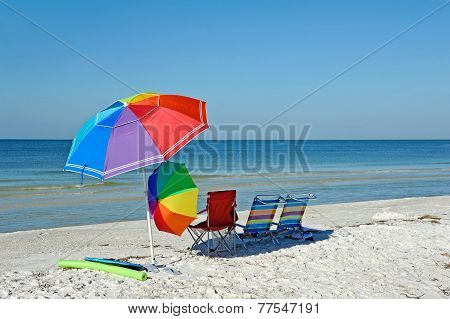 Beach Chairs With Umbrellas