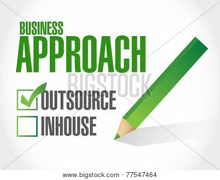 Business Approach Check List. Outsource