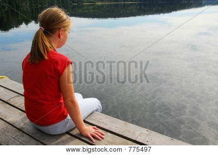 Girl child dock