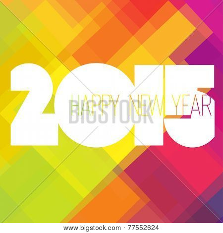2015 Happy New Year Colorful Design. Raster version