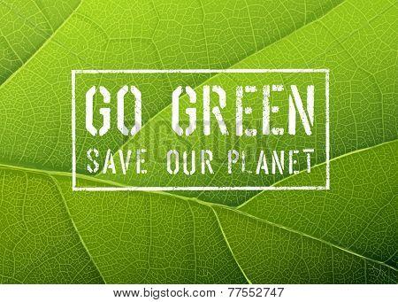 Go Green Poster. Raster version