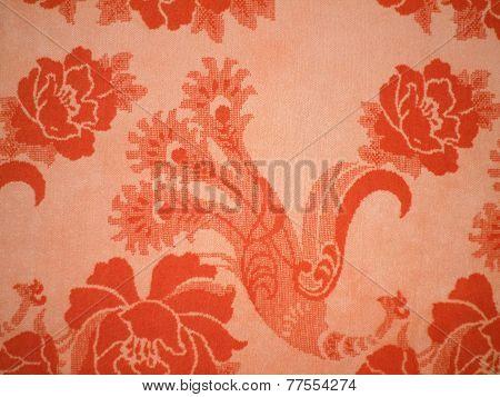 Orange vintage cloth