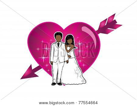 Just Married Couple vector illustration