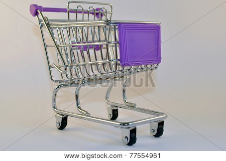 purple shopping trolley