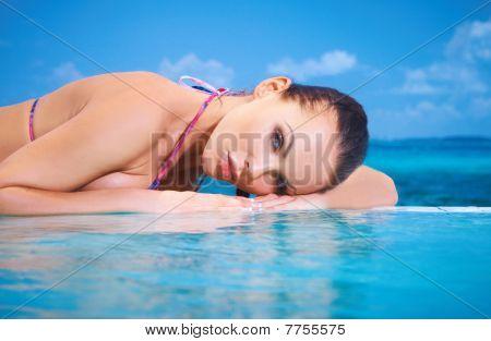 Woman At Maldives