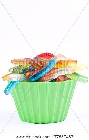 gummy worm candies