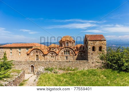 Byzantine church in medieval city of Mystras