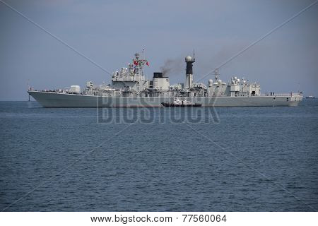 Chinese warship leaves the Port