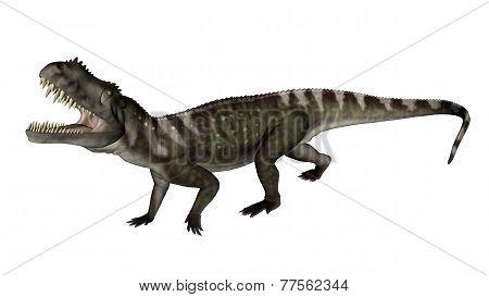 Prestosuchus dinosaur roaring - 3D render