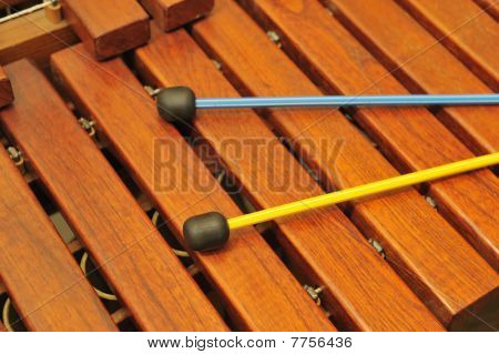 Wood Xylophone And Mallets