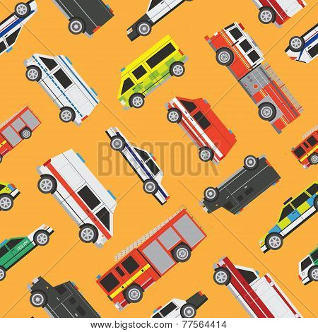 Seamless Pattern Service Cars