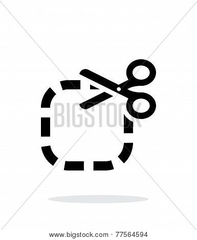 Cut icon on white background.