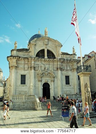 Church Of St Blaise In Old City Of Dubrovnik,croatia