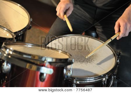 The Drummer In Action