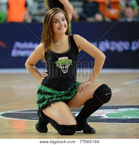 PGE Turów Zgorzelec cheerleader.