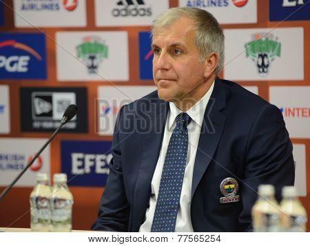 Željko Obradovic coach Fenerbahce Istanbul.