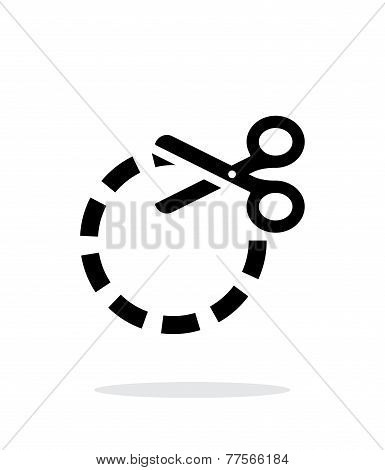 Cut circle icon on white background.