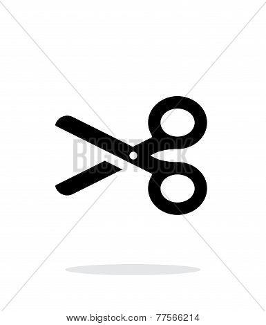 Scissors icon on white background.