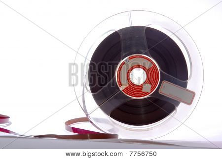 cut-out of an Old magnetic Audiotape