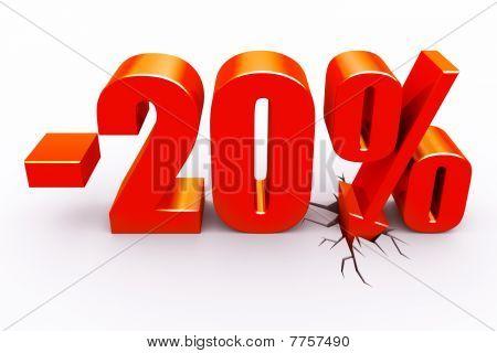 desconto de 20 por cento