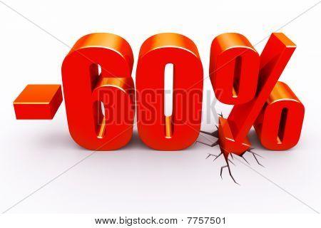 60 percent discount