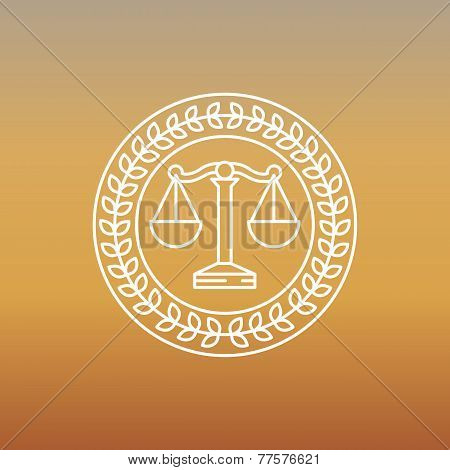 Vector Juridical And Legal Logo And Sign