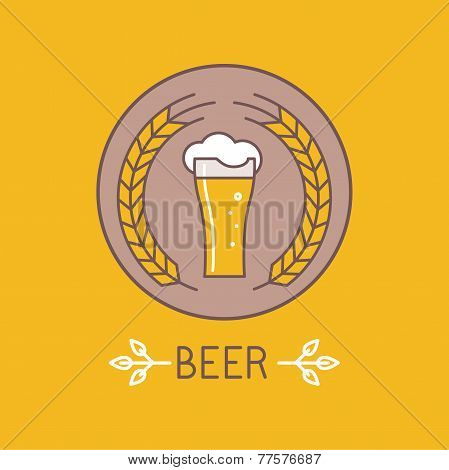 Vector Beer Logo And Sign