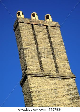 Old  brick chimney stack