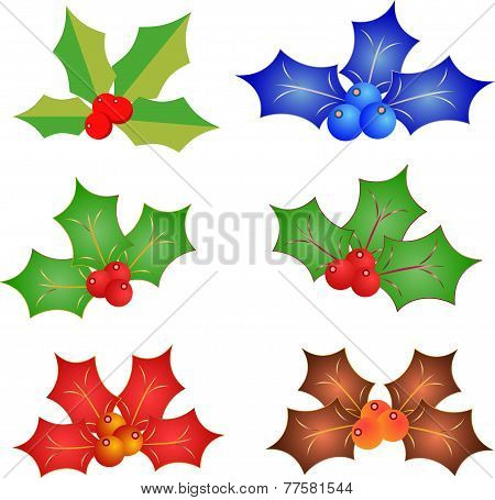 Isolated Decorative Christmas Mistleote Vectors