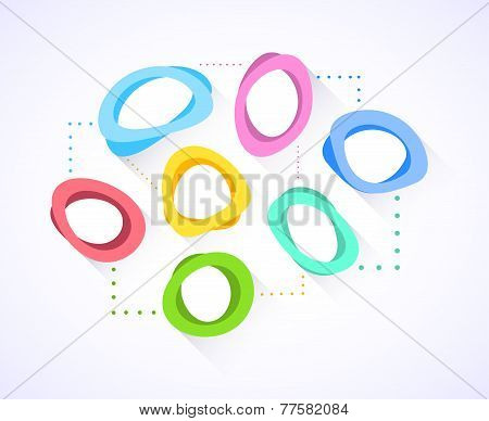 Abstract Background With Colorful Circles. Vector Illustration