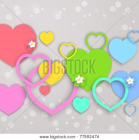 Vector Hearts, Abstract Design For Valentines Day