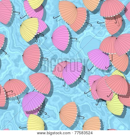 Summer Seamless Pattern With Parasol