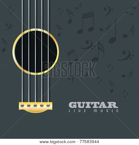 Guitar Live Music Poster Background