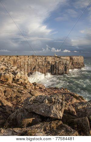 Atlantic Coast at Ponta de Sagres, Portugal