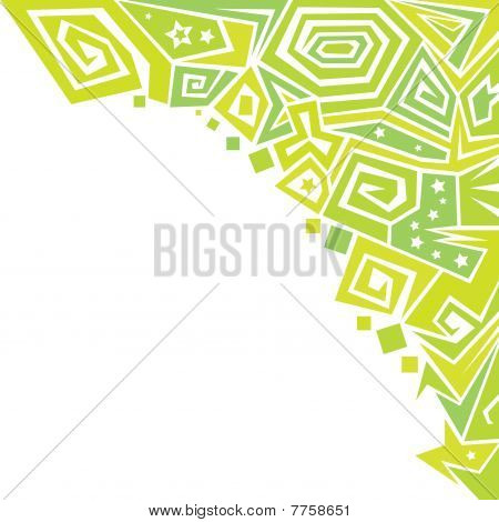 abstract green ornaments