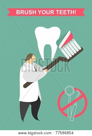 Dentist Cleans Your Teeth