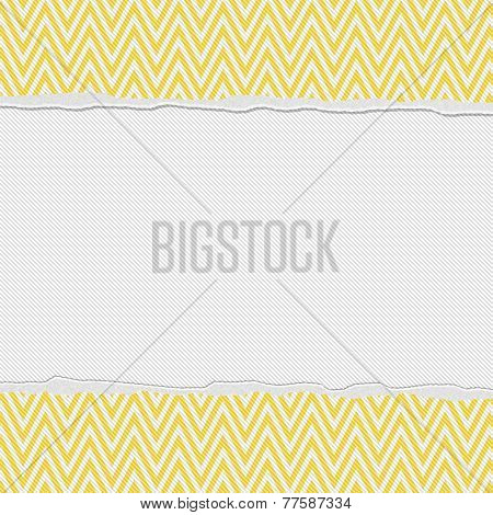 Yellow And White Torn Chevron Frame Background