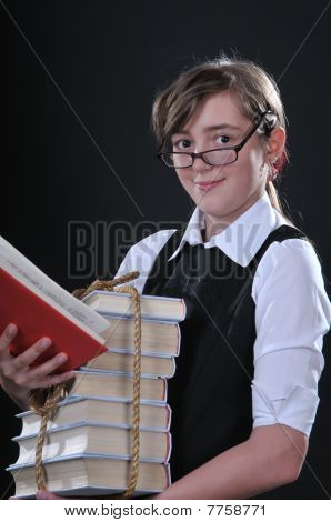 Girl And Books