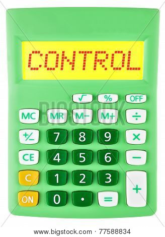 Calculator With Control On Display Isolated