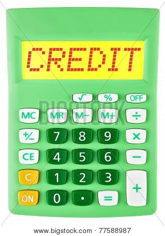 Calculator With Credit On Display