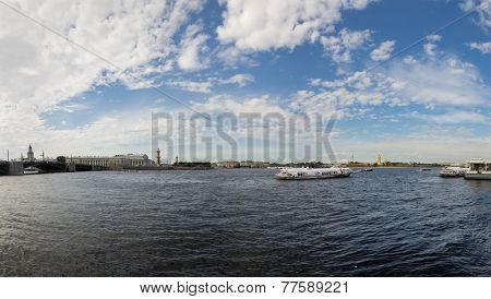 View Of Saint-petersburg From Neva River