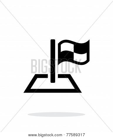 Racing flag icon on white background.