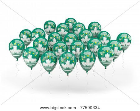Balloons With Flag Of Macao
